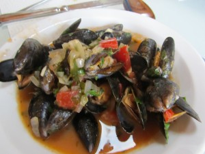 fresh seafood pasta in Europe