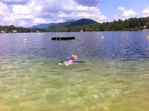 Swimming in Lake Placid