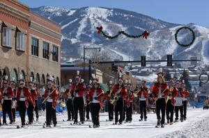 Steamboat Springs band on snow.