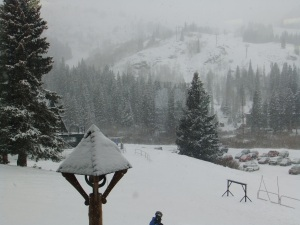 New snow at Brighton Ski Resort