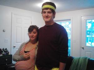 Photo of couple on Halloween.