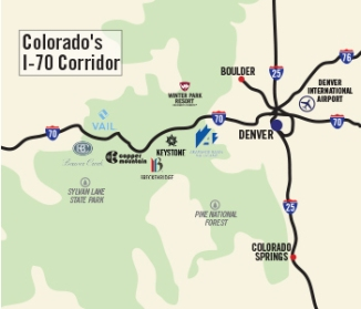 I-70 map of Colorado