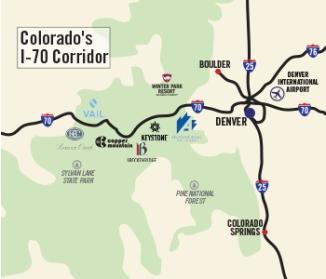 I-70 map of Colorado