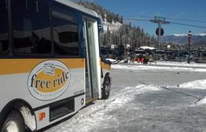 Free parking lot shuttle.