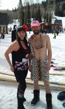 costumes on the slopes
