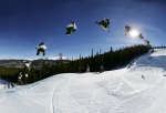 Ride the terrain parks into the sunset. (Photo David Lehl)