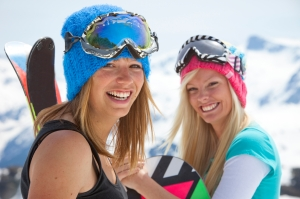 spring skiing women