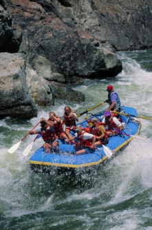 White water rafting is something you can book in advance.