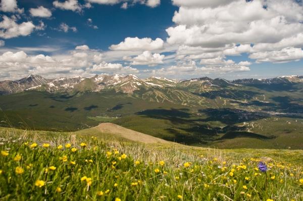 Rocky Mountain Range in Summer