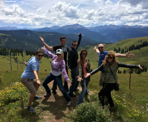 Vacation Roost crew on the Vail Mountain Tour