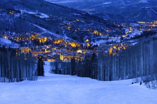 Beaver Creek Colorado Village at Dusk