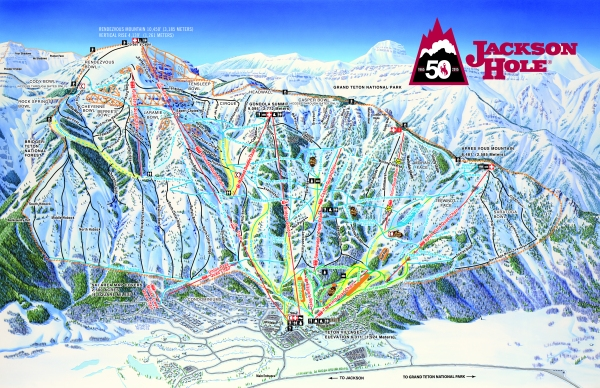 Jackson Hole 2015-16 Trail Map